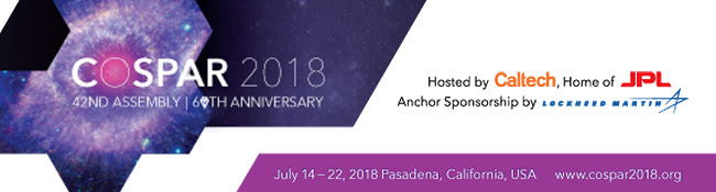 COSPAR 2018:'Ultraviolet Astronomy and the Quest for the Origin of Life' Abstract Submission, Registration, and Housing are now Open